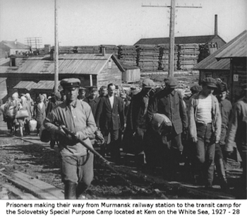 Origins of the Gulag, Solovetsky Prison, Solovki, SLON prisoners, 1927