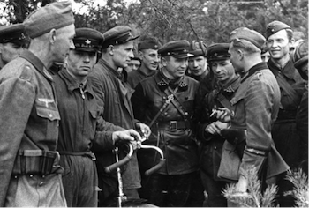 Hitler-Stalin Pact, Nazi-Soviet Pact, Soviet and German troops, Brest-Litovsk 1939
