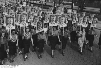 Day of Young Girls, Berlin, 1951, Cult of Stalin, East Germany