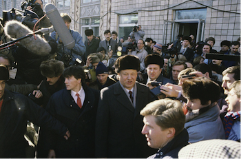 Boris Yeltsin, End of the Soviet Union, Referendum, Russia, March 1991
