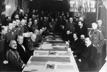 October Revolution, Decree on Peace, Armistice, Peace Talks, Brest Litovsk Treaty